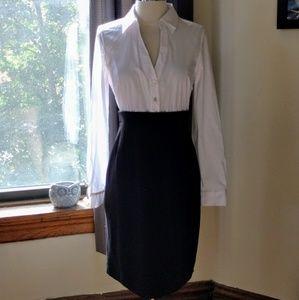 Elie Tahari button up shirt sheath dress 4